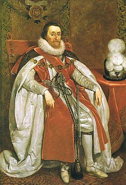 James I of England by Daniel Mytens in 1621