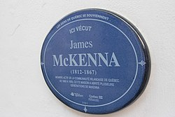 James mckenna plaque