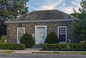 Main Street–Albertson Street–Park Place Historic District - Image: James Roosevelt Memorial Library, Hyde Park, NY