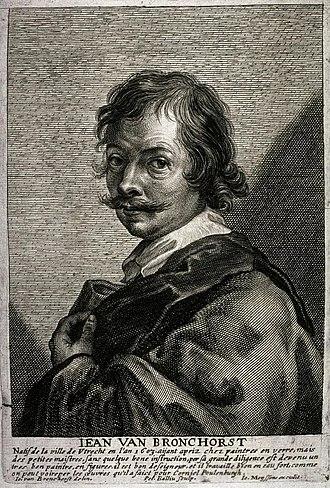 Jan Gerritsz van Bronckhorst - Jean van Bronchorst by Pieter Bailliu after a selfportrait, published in Cornelis de Bie's Gulden Cabinet in 1662.