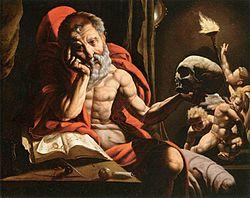 Jan Cornelisz Vermeyen: Saint Jerome Meditating