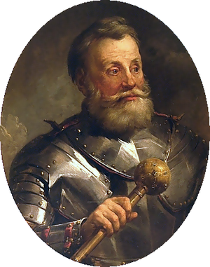 Bulawa - Hetman Chodkiewicz of Polish-Lithuanian Commonwealth, holding a buława
