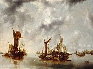 Jan van de Cappelle - A Calm, 1654