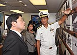 Japanese defense minister visits USS Arizona 130702-N-IT566-034.jpg