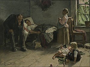 Zdzisław Jasiński - The Sick Mother.