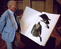 Jean Dorst consultant The Birds of America d'Audubon au MNHN 1989.JPG