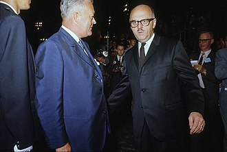 Jean Lesage - Jean Lesage (left) with Mayor of Montreal Jean Drapeau (right) in June, 1964