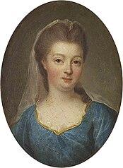 Portrait de Louise-Françoise de Bourbon, Mademoiselle de Nantes, légitimée de France, femme de Louis, duc de Bourbon