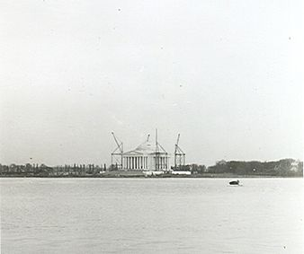 Under construction in 1941, as seen from across the Tidal Basin Jefferson Memorial taken May 15, 1941.jpg