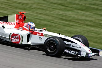 Jenson Button - Button behind the wheel for BAR at the 2004 United States Grand Prix.