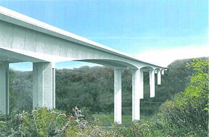 Jeremiah Morrow Bridge - ODOT drawing of new Jeremiah Morrow Bridge