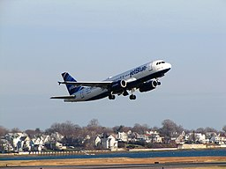 JetBlue Airways A320-232 (N584JB) taking off from Logan International Airport