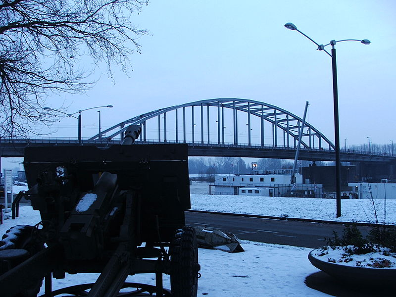 The John Frost Bridge, seen from the memorial.
