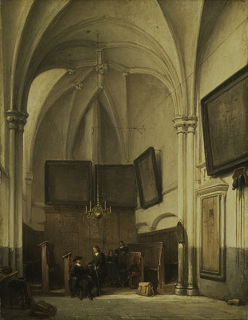 Johannes Bosboom - De consistoriekamer van de Sint Stevenskerk te Nijmegen