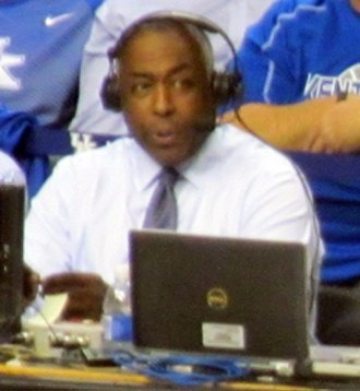 John Saunders (journalist) - Saunders providing play-by-play for University of Kentucky's 2015 Blue-White scrimmage