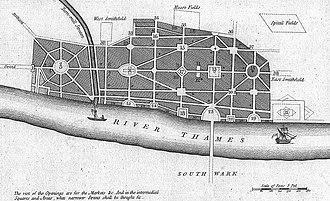 Stuart London - John Evelyn's plan for the rebuilding of London after the Great Fire.