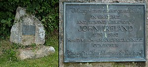 John Ireland (composer) - John Ireland's grave in the churchyard of St. Mary the Virgin in Shipley, West Sussex, photographed in 2014