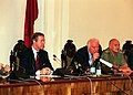 Joint press briefing with William Cohen, Eduard Shevardnadze and David Tevzadze (Krtsanisi, August 1, 1999).jpg