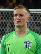 Pickford Playing For England At The  Fifa World Cup