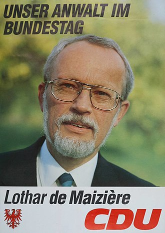 1990 East German general election - Image: KAS De Maizière, Lothar Bild 3101 1