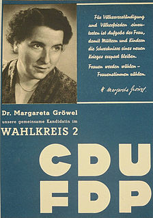 Margarete Gröwel German politician