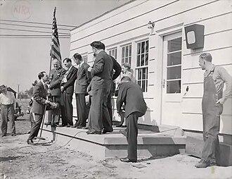 KIRX -  KIRX first day of broadcasting celebration, 10-17-1947.