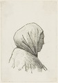 KITLV - 36B244 - Borret, Arnoldus - Woman with a headscarf in profile - Pen and ink - Circa 1880.tif