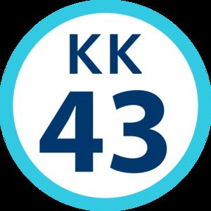 Gumyōji Station (Keikyu) - Image: KK 43 station number
