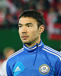 Kairat Nurdauletov before the match.JPG
