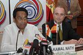 "Kamal Nath and the Minister of Industry, Tourism and Trade of Spain, Mr. Miguel Sebastian at the joint press conference, during the ""India-Spain Investment and Business cooperation Forum"", in New Delhi on December 11, 2008.jpg"