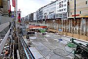 Karlsruhe Kaiserstraße Baustelle 2012-02
