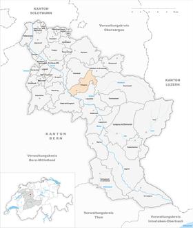 Map of Rüegsau