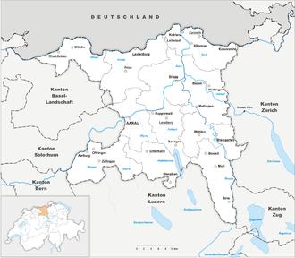 Karte Kanton Aargau 2010
