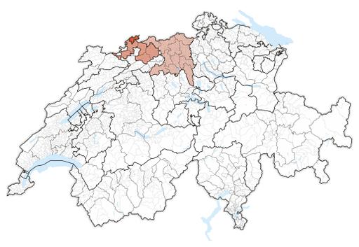 Karte Nordwestschweiz 2017