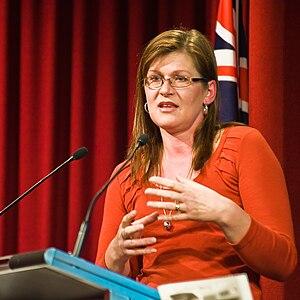 Kate Lundy @ Glamwiki Canberra 2009