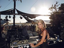 Kate performing at Blue Marlin, Ibiza 2011.jpg