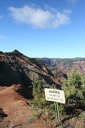 Waimea, Kauai County, Hawaii - Along a ridgeline near Waimea
