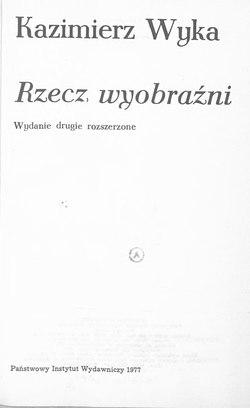 Rzecz Wyobraźnicałość Wikiźródła Wolna Biblioteka