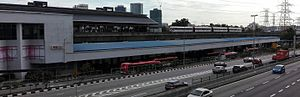Kelana Jaya LRT station - Image: Kelana Jaya LRT station from connecting bridge