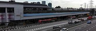 Kelana Jaya LRT station - Image: Kelana Jaya LRT station from connecting bridge