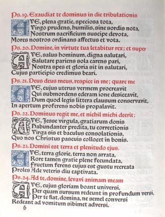 Rubric - Image: Kelmscott Press Laudes Beatae Mariae Virginis