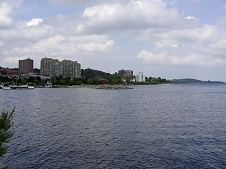 Kempenfelt Bay - Downtown Barrie curves around the shore of Kempenfelt Bay
