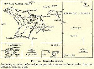 Karte der Kermadec-Inseln