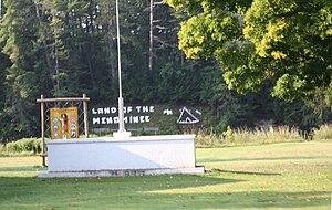 Keshena, Wisconsin - Image: Keshena Wisconsin Park WIS55