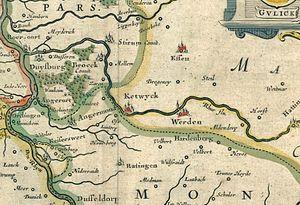 Kettwig - Map of Kettwig, 1640