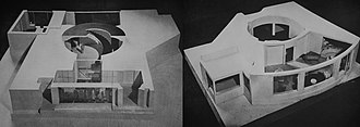 Hugh T. Keyes - Model of proposed residence by Keyes, 1930s