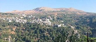 Kfarsghab - Kfarsghab as seen from Aintourine - August 2003