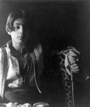 Kahlil Gibran - Kahlil Gibran, photograph by Fred Holland Day, c. 1898.
