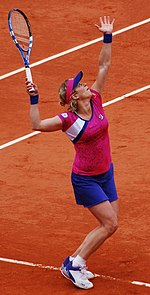 Clijsters at the 2011 French Open