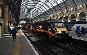 Grand Central Railway - Class 43 HST at London Kings Cross in August 2012